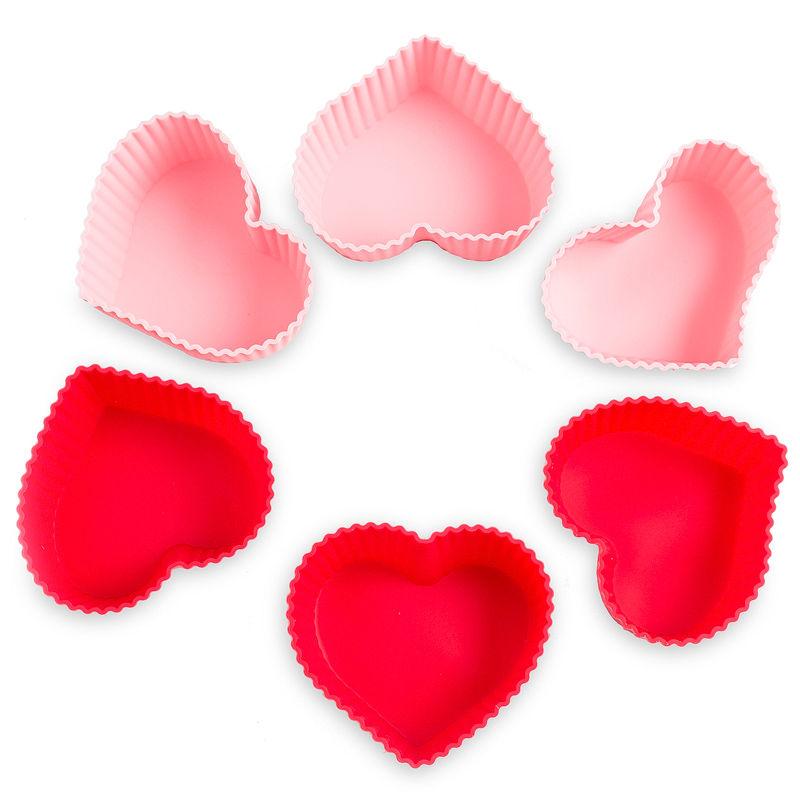 Silikonová formička srdce 6ks