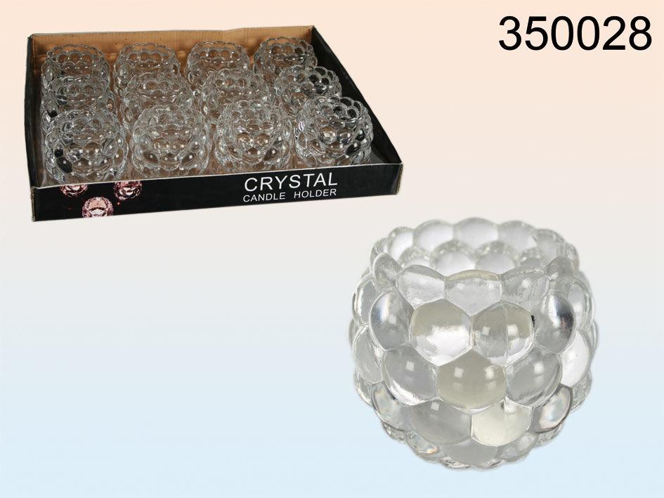 Svíčník ve tvaru krystalu 7,5x6cm