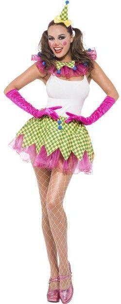 Dámská sada klaun (čelenka, límec, sukně)