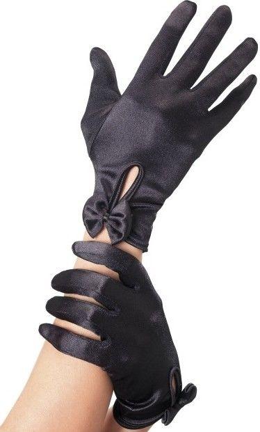 Rukavice černé s mašličkou