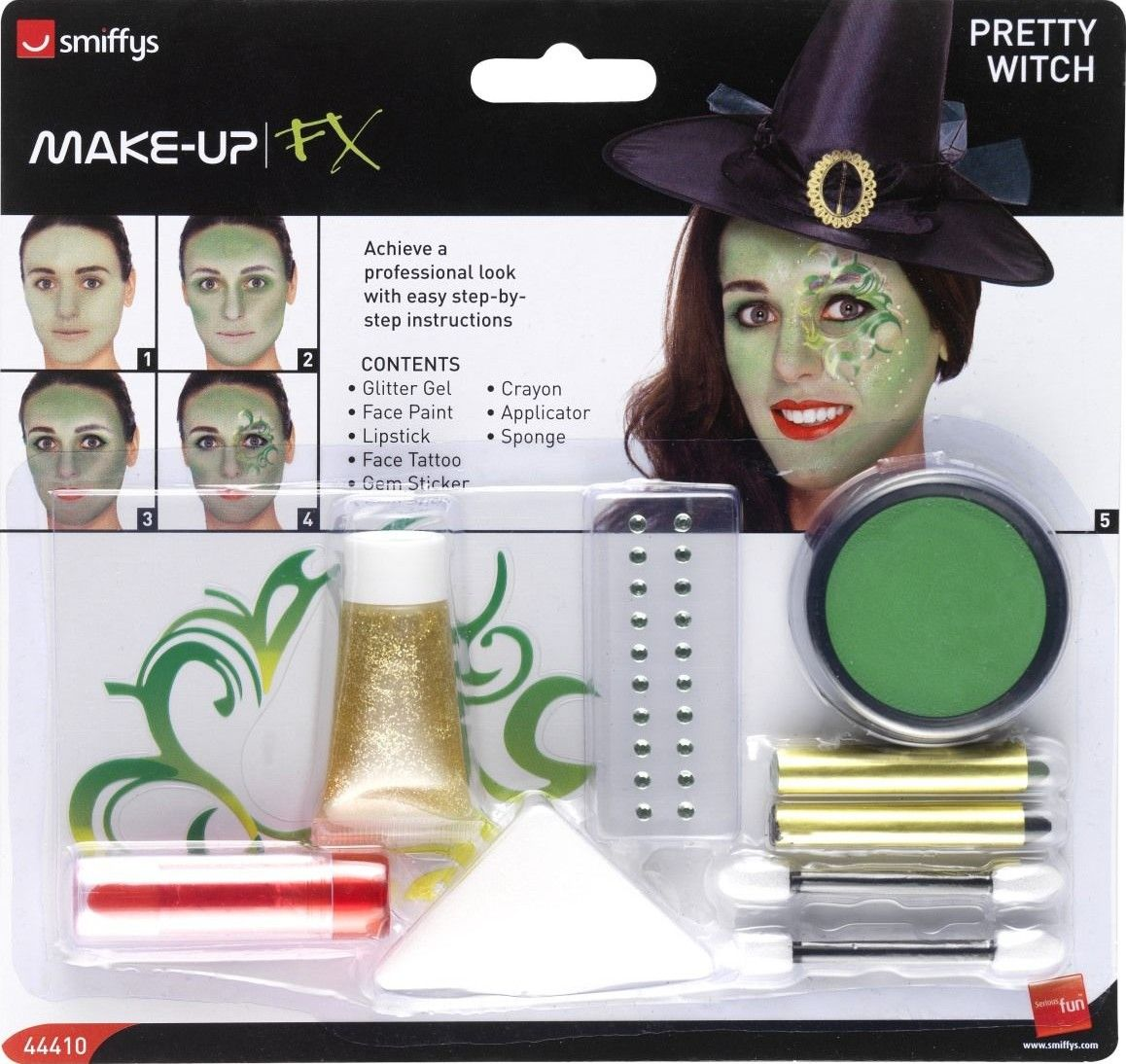 Sada barev na obličej krásná čarodějka