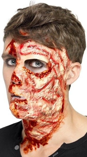 Zranění spálený obličej