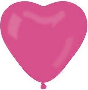 Balónek srdce růžové 1ks