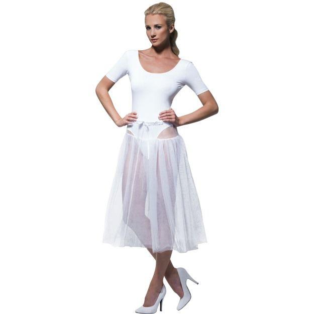 Bílá spodnička, 50.léta, nastavitelná velikost