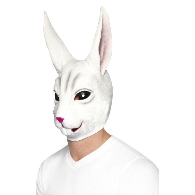 Celohlavová latexová maska králík