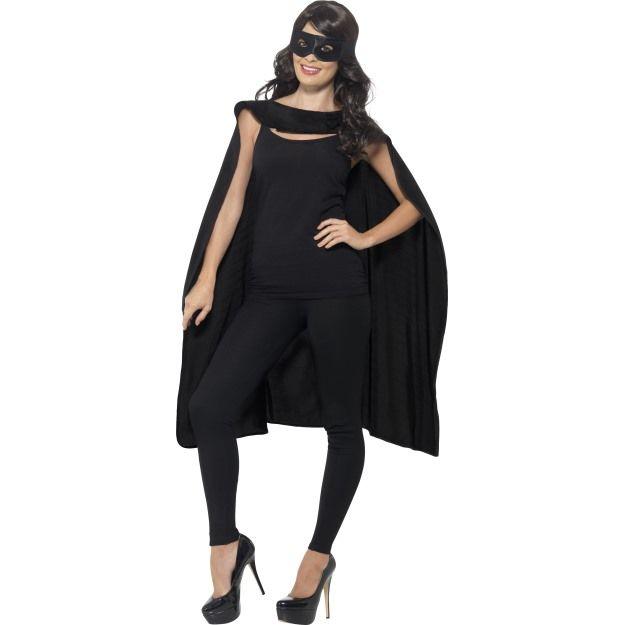 Černý plášť a maska na oči