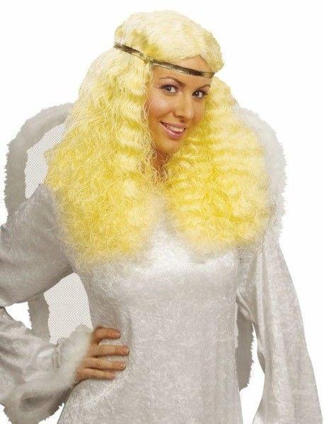 Paruka anděl se zlatou čelenkou