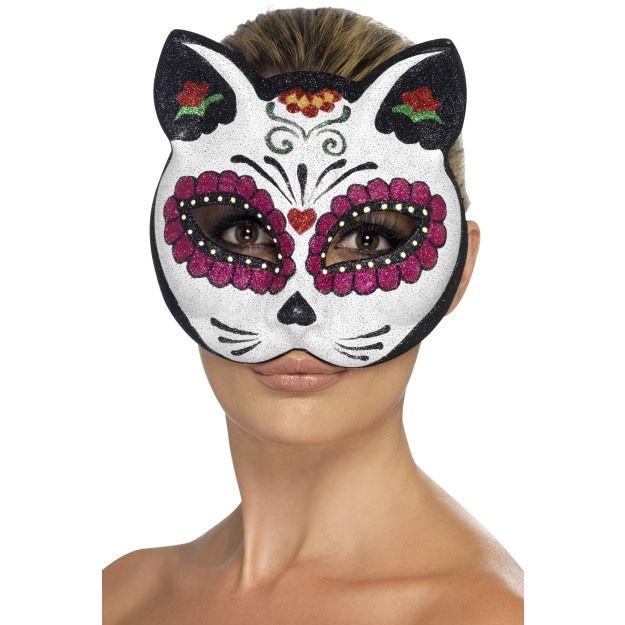 Škraboška kočka - sugar skull