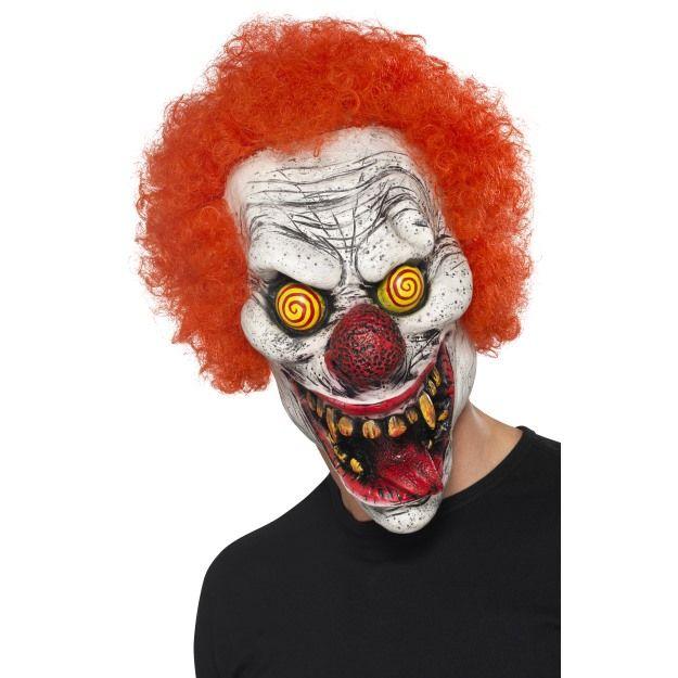 Celohlavová latexová maska šílený klaun