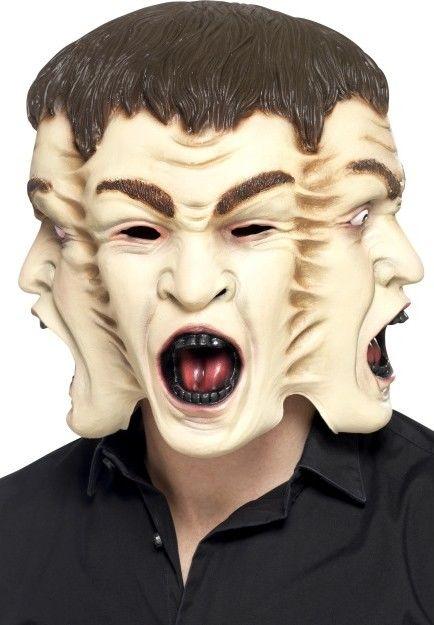 Celohlavová latexová maska Tři tváře