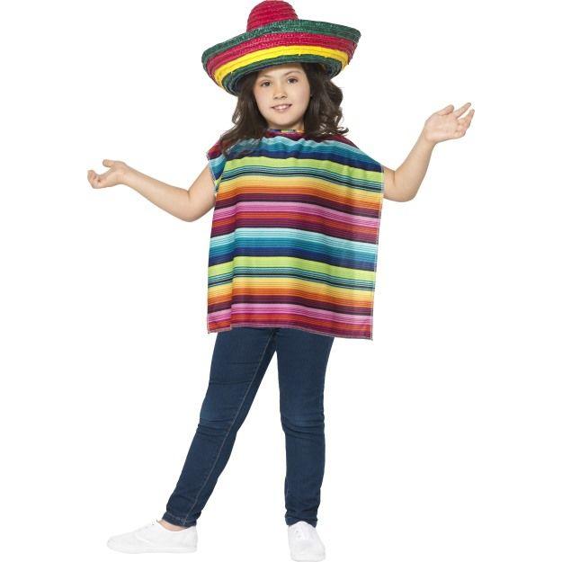 Dětská sada mexičan (sombrero, pončo)