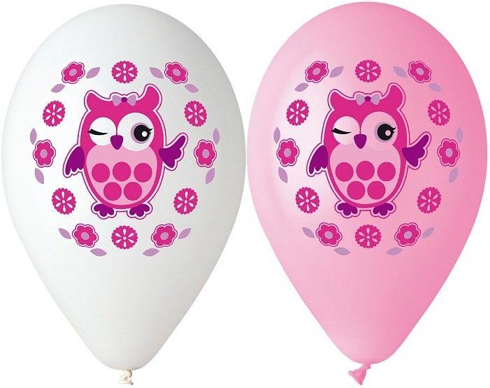 Sada balónků - sova 5ks