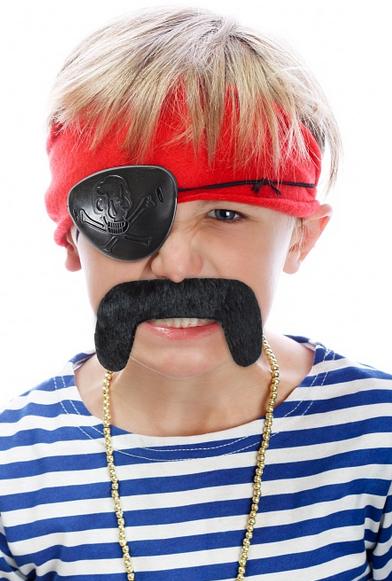 Sada pirát (záslepka, knír)