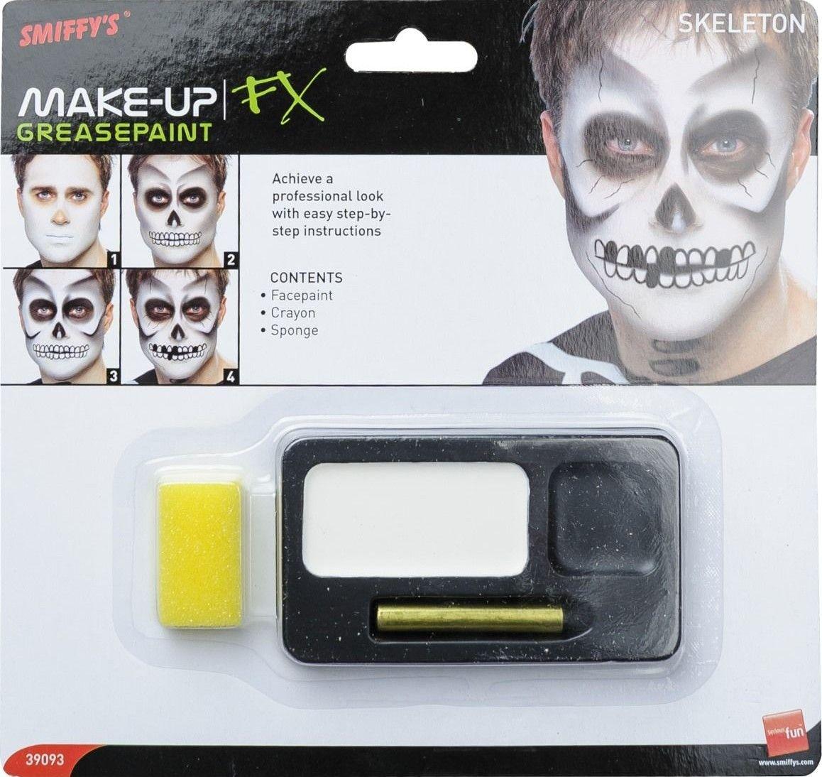 Halloweenský make up kostlivec
