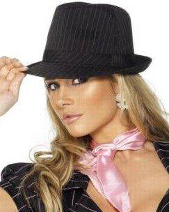 6e1be093092 Dámský klobouk černý s proužkem