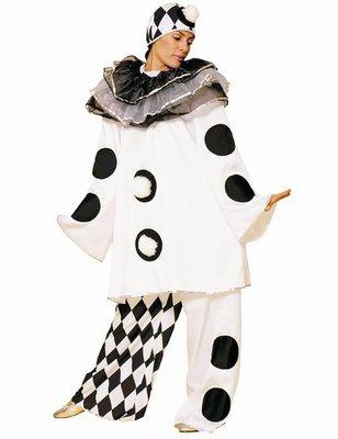 ab7397c6e40d Dámský kostým klaun (černo-bílý s kolečky)