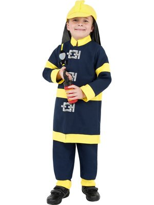 Dětský kostým hasič žluté pruhy  adb687c04ba