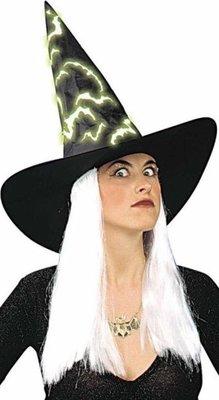 75b07df4da6 Čarodějnický klobouk s vlasy